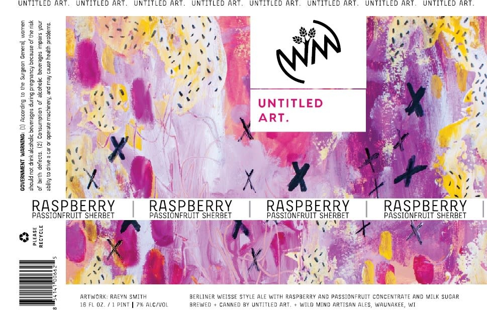 Untitled Art UNTITLED ART RASPBERRY AND PASSION FRUIT SHERBET BERLINER WEISSE 4 PK CANS