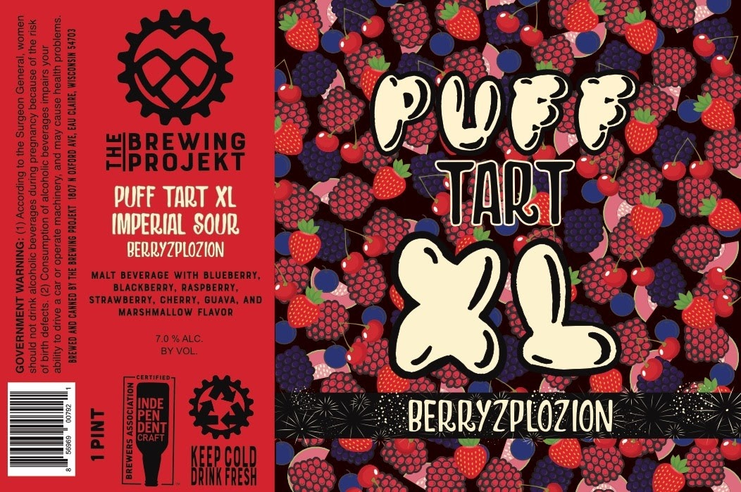 The Brewing Projekt THE BREWING PROJEKT PUFF TART XL BERRYZPLOZION IMPERIAL SOUR 4 PK CANS