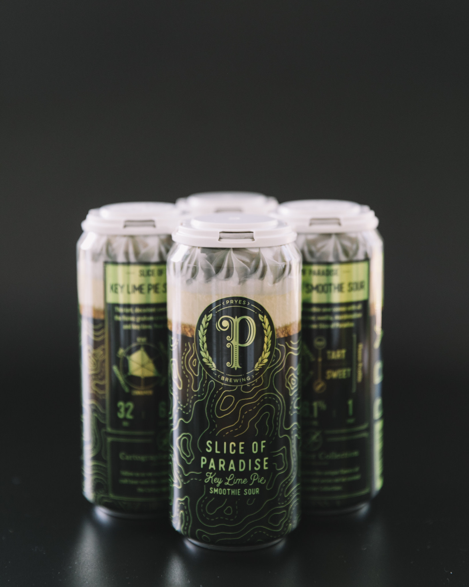 Pryes Brewing PRYES BREWING SLICE OF PARADISE KEY LIME PIE SMOOTHIE SOUR 4 PK CANS