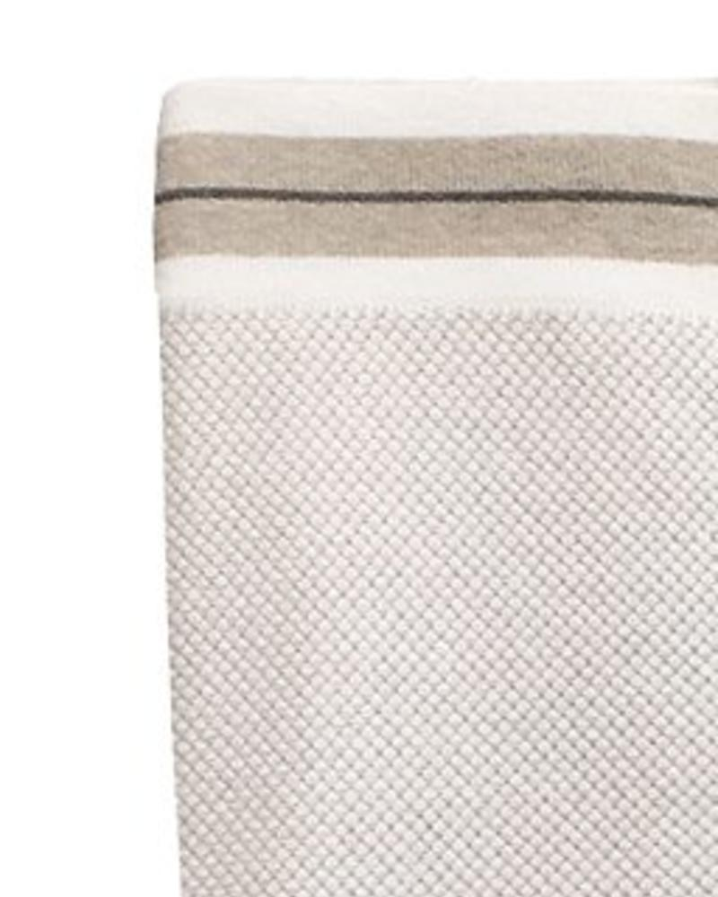 "REGATTA CASHMERE THROW: 52"" X 72"":  IVORY-BEIGE"