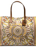 PRINTED CANVAS BEACH BAG:FIRENZE: MELON