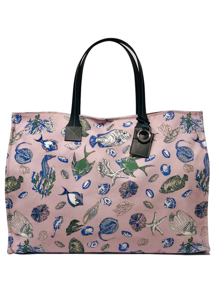 TOTE BAG: FISH: PINK
