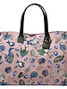 PRINTED CANVAS BEACH BAG: FISH: PINK