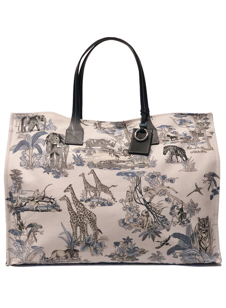 TOTE BAG: SAFARI: BLUE
