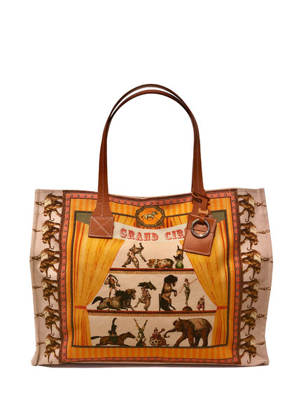 TOTE BAG SMALL: CIRCUS: PINK