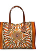 PRINTED CANVAS BEACH SMALL BAG: FIRENZE: ORANGE