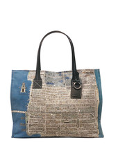 TOTE BAG SMALL: PALM BEACH: BALTIC BLUE