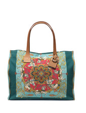 TOTE BAG SMALL: TOYHORSES: TURQUOISE