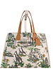 PRINTED CANVAS BEACH SMALL BAG:  SAFARI: LIME