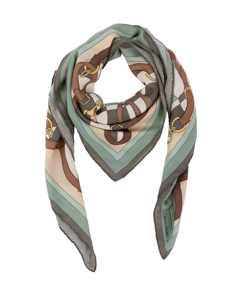 PRINTED CASHMERE SCARF: FIRENZE : GREEN