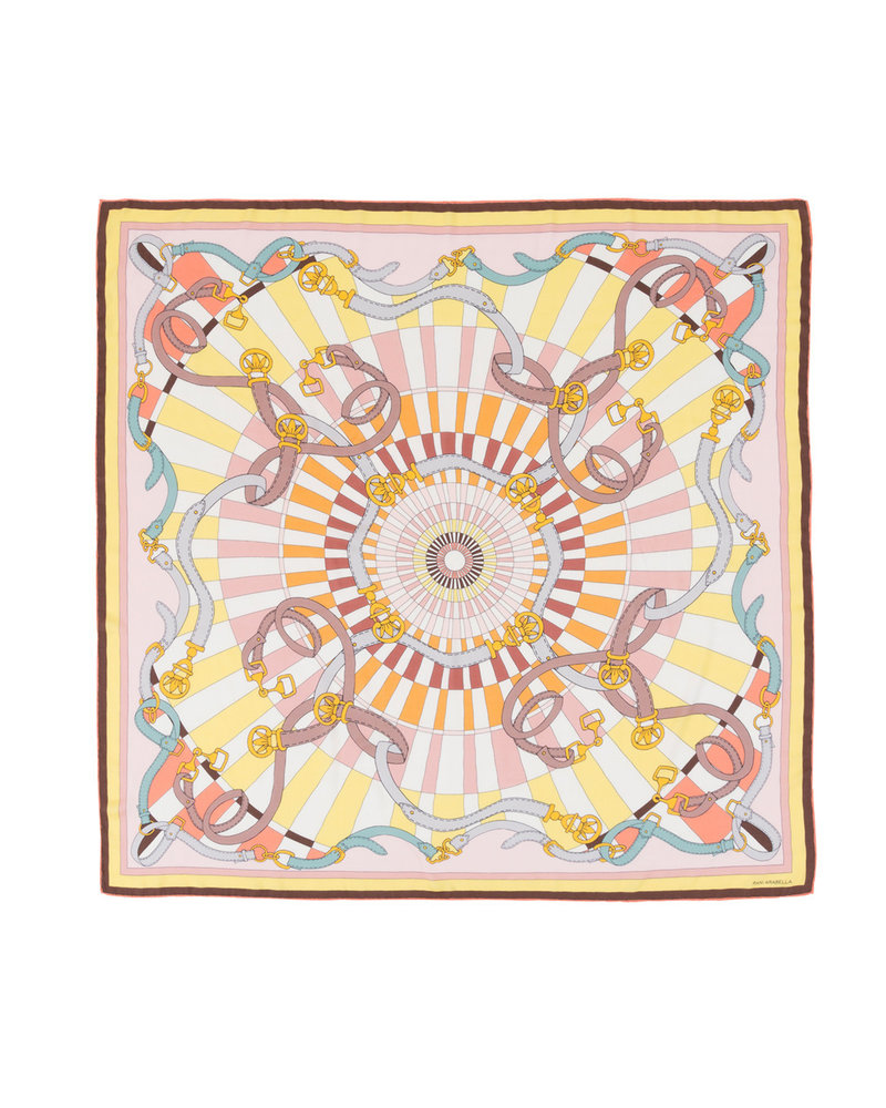 PRINTED CASHMERE SCARF: FIRENZE : MELON