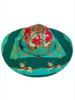 PRINTED BIG HAT:  TOY HORSES: TURQUOISE