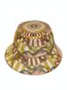 PRINTED BUCKET HAT:  FIRENZE: MELON
