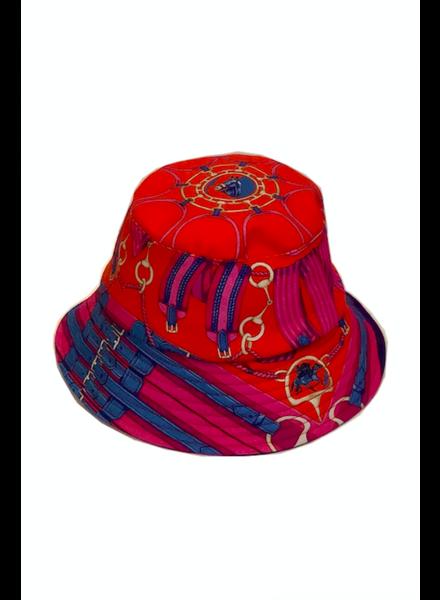 BUCKET HAT:  STIRRUPS: TWILIGHTBLUE