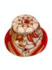 PRINTED BUCKET HAT:  STIRRUPS: ORANGE