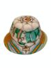 PRINTED BUCKET HAT:  STIRRUPS: GREEN