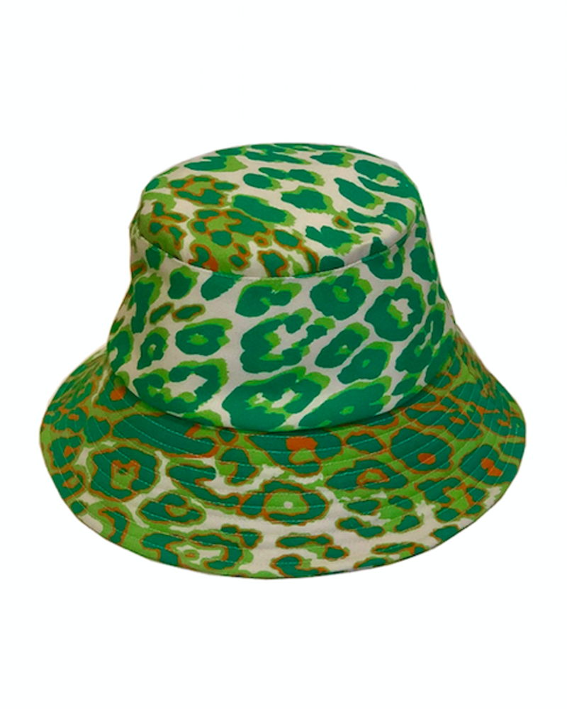 PRINTED BUCKET HAT:  LEO: GREEN