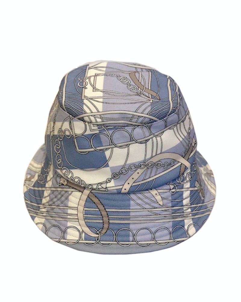 PRINTED BUCKET HAT:  VENEZIA: BLUE