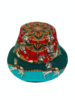 PRINTED BUCKET HAT:  TOY HORSES: TURQUOISE