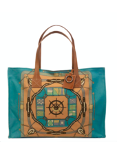 TOTE BAG SMALL: STEERING WHEEL: APRICOT