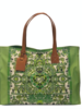 PRINTED CANVAS BEACH SMALL BAG: ELIZABETH: IVY