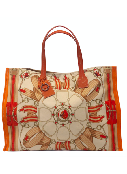 TOTE BAG: STIRRUPS: ORANGE