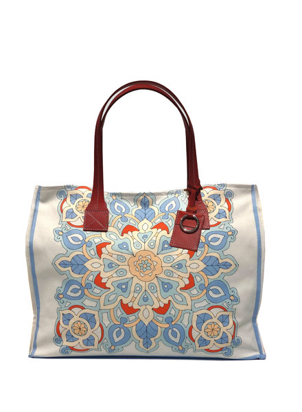 TOTE BAG SMALL: SAVOIA: BLUE