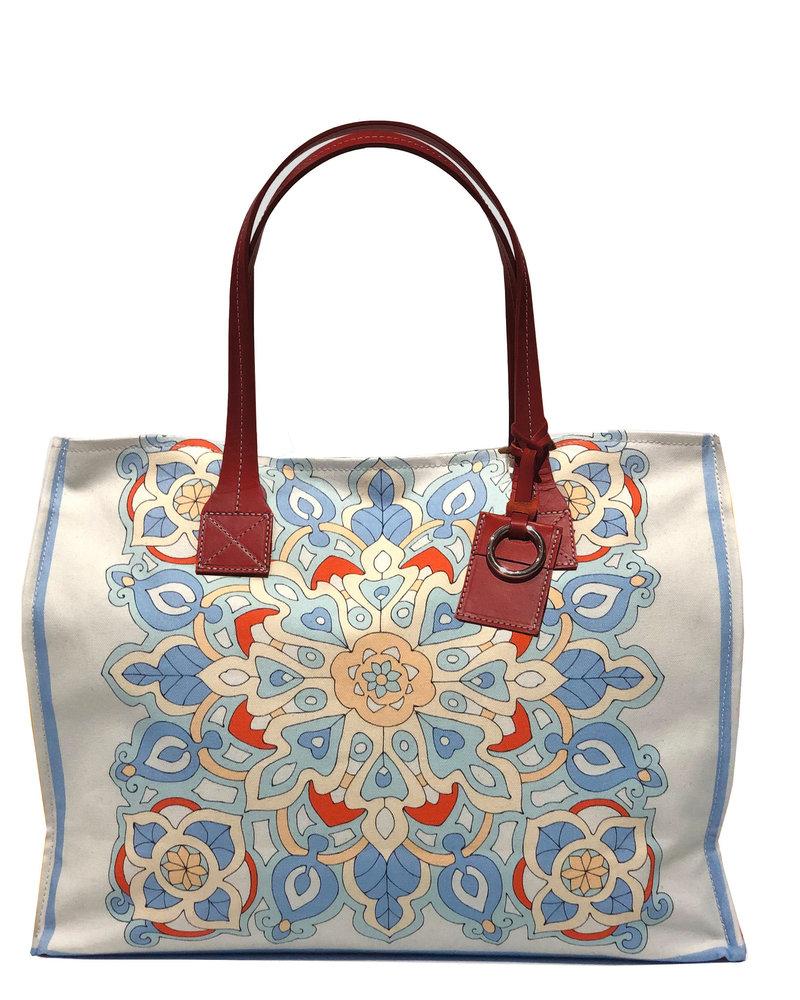 PRINTED SMALL BAG:  SAVOIA: BLUE