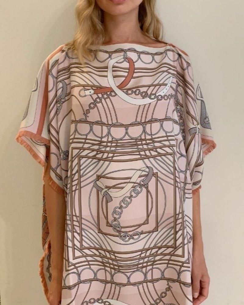 DOUBLE SILK DRESS:  STIRRUPS-VENEZIA: PINK