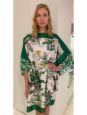 PRINTED SILK KAFTAN: SAFARI