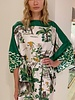 PRINTED SILK KAFTAN: SAFARI: MINT