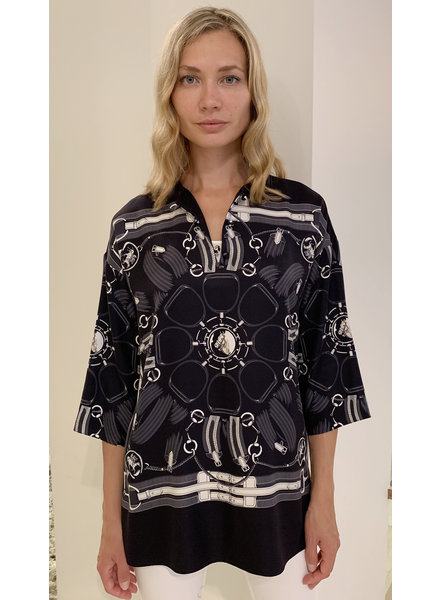 TUNIC W/ KNOT BUTTONS:  STIRRUPS