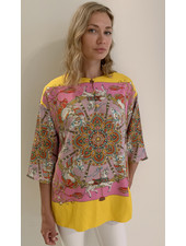 TUNIC WITH KNOT BUTTONS: CANDY