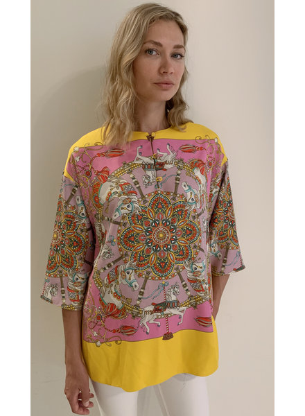 TUNIC WITH KNOT BUTTONS