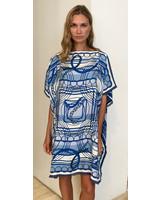 DOUBLE SILK DRESS: STIRRUPS-VENEZIA