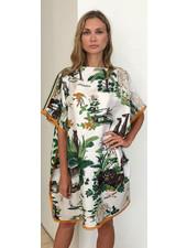 DOUBLE SILK DRESS: LEOPARD-SAFARI
