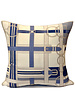 "SUPERFINE WOOL PRINTED PILLOW: 24""X24"": SADDLE BLUE"