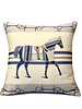 """SUPERFINE WOOL PRINTED PILLOW: 24""""X24"""": POLO BLUE"""