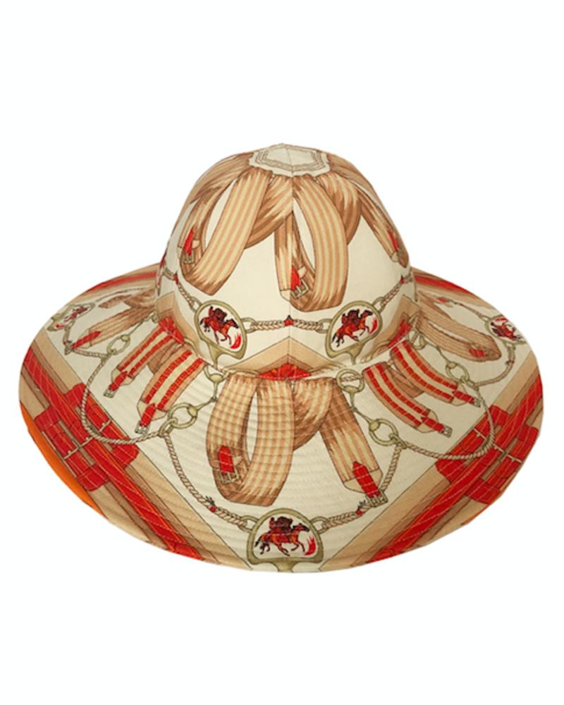 PRINTED BIG HAT:  STIRRUPS: ORANGE