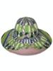 PRINTED BIG HAT:  FIRENZE: LIME