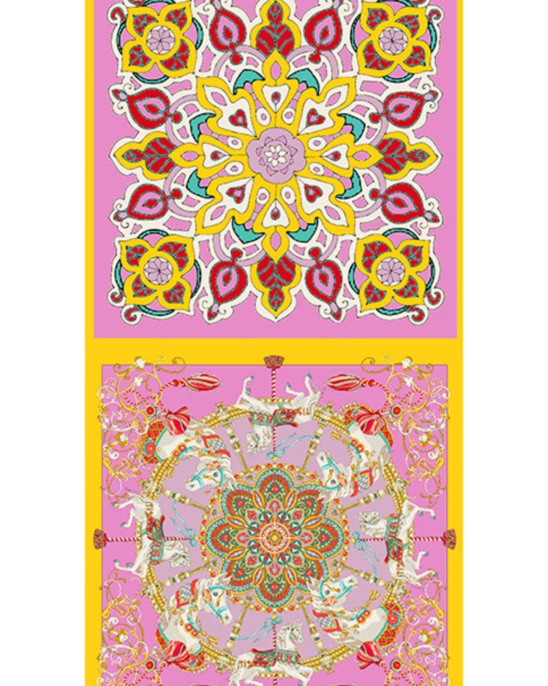 DOUBLE SILK SCARF: CANDY
