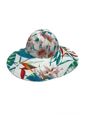 WIDE BRIM HAT: TROPICAL: PINK