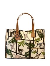TOTE BAG SMALL: MONKEY: IVORY