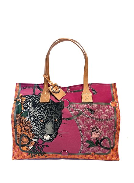 TOTE BAG SMALL: LEOPARD: ROSE