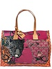 PRINTED CANVAS BEACH SMALL BAG: LEOPARD: ROSE