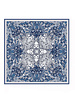 PRINTED CASHMERE SCARF: MONKEY-ELEPHANT-LION: BLUE