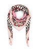 PRINTED CASHMERE SCARF: CROWN: PINK