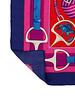PRINTED CASHMERE SCARF: STIRRUPS: TWILIGHT BLUE