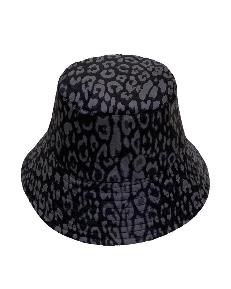PRINTED BUCKET HAT:  LEO: BLACK