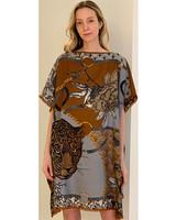 DOUBLE SILK DRESS: LEOPARD